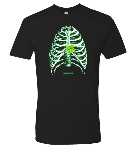 Rise Again -- Monster MD Phosphorescent Ribs T-shirt - crypto.fashion