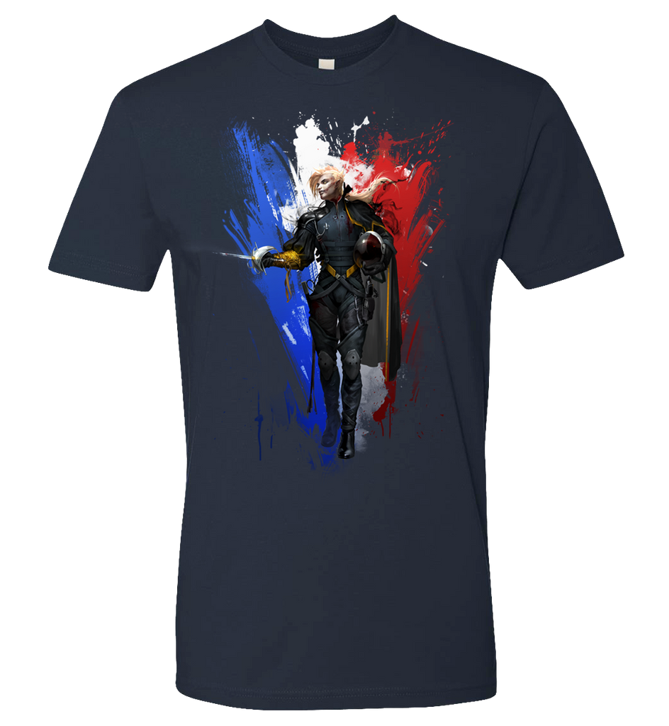 Countries As Heroes -- France T-shirt - If Countries Were People - crypto.fashion - order now