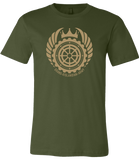 Jon Del Arroz -- Grand Rislandian Army Crest T-Shirt - crypto.fashion