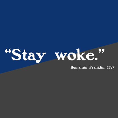 crypto.fashion -- stay woke tee