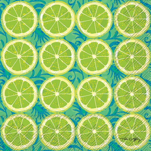 Lime Craze Paper Cocktail Napkin