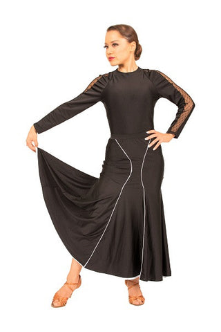 Skirt-black ballroom, standard, flamenco, formal