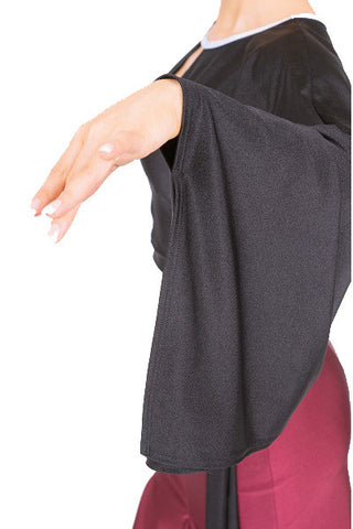 Top- black color block, tango salsa latin dancewear