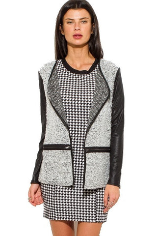 Gray textured blazer cardigan SOLD OUT