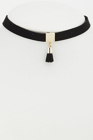 Choker- black with tassel