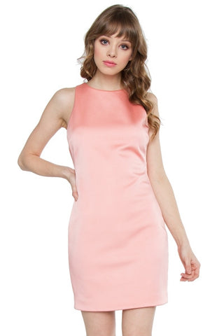 Pink scuba bodycon dress