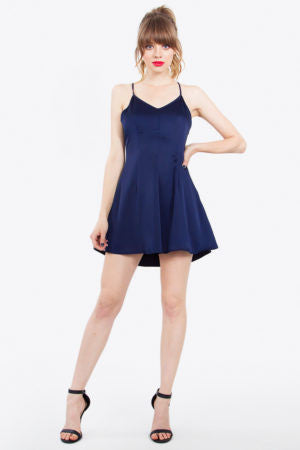 Dress- Navy blue with Spaghetti Straps