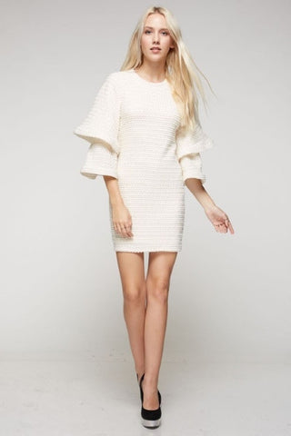 Dress- white cream with bell sleeves SOLD OUT