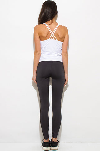 Yoga leggings- dark charcoal gray