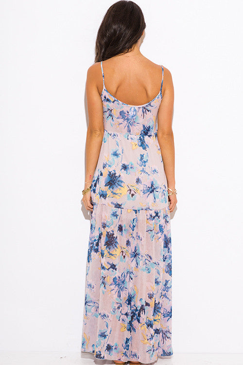 Maxi Dress- lilac purple floral print