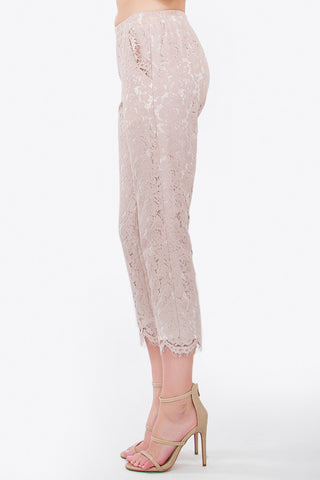 Lace pants- blush pink taupe