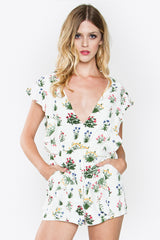 Ruffle floral romper SOLD OUT