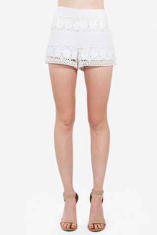 Shorts- white crochet lace