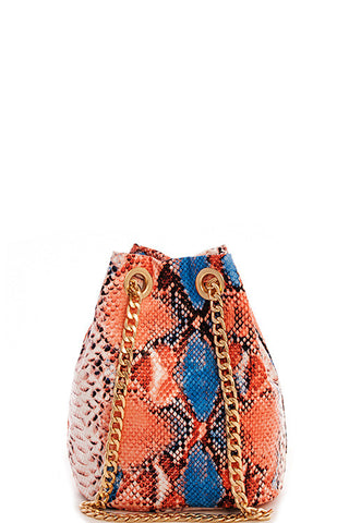Shoulder Crossbody Bag- Snake Pattern Multicolor