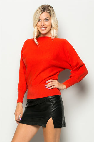 Red fleece sweater