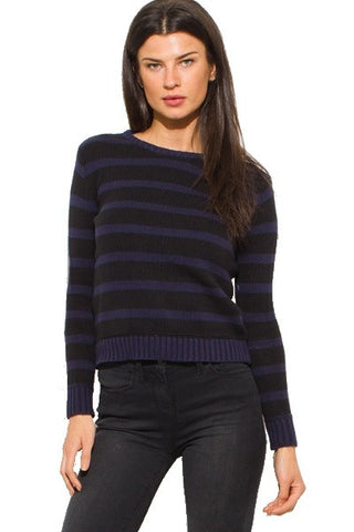 Sweater- black & blue stripes
