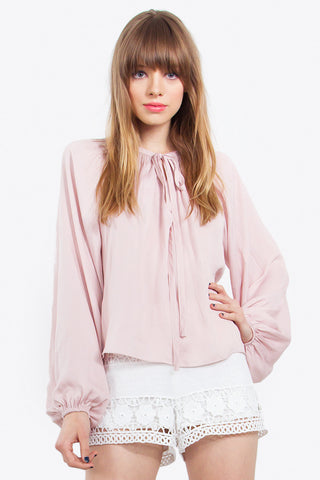 Top-blush pink blouse