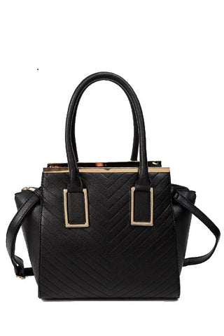 Black Diamond Heart Satchel Bag