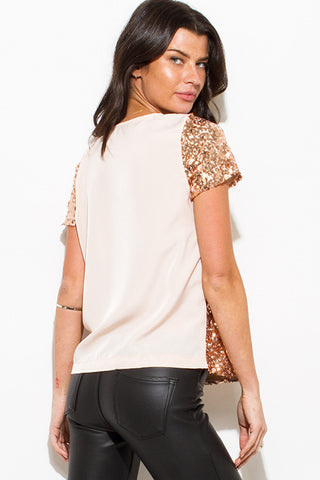 Rose gold sequin top SOLD OUT