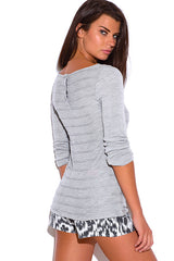 Sweater tunic top - light gray