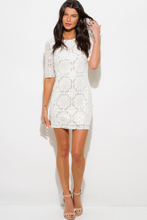 White sequin mini dress SOLD OUT