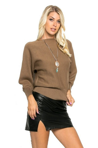 Khaki fleece sweater