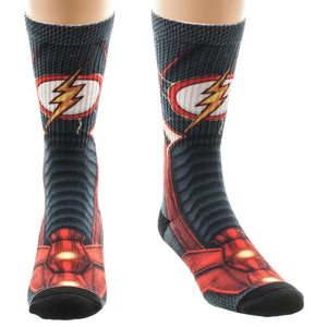 DC Comics Flash - Armor Boot 360 Crew Socks