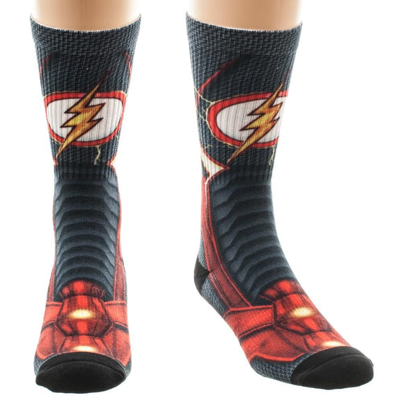 DC COMICS - FLASH - Armor Boot 360 Sublimated Crew Socks