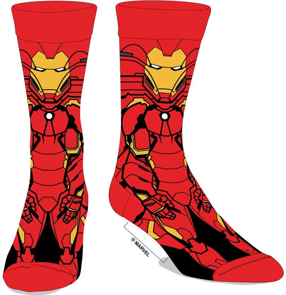 MARVEL - IRON MAN - 360 Men's Character Crew Socks