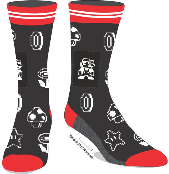 SUPER MARIO BROS- Classic Mario Men's Crew Socks