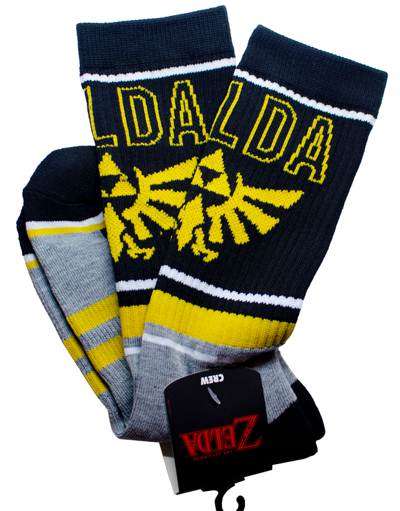 NINTENDO - ZELDA - Colorblock Crew Mens Socks