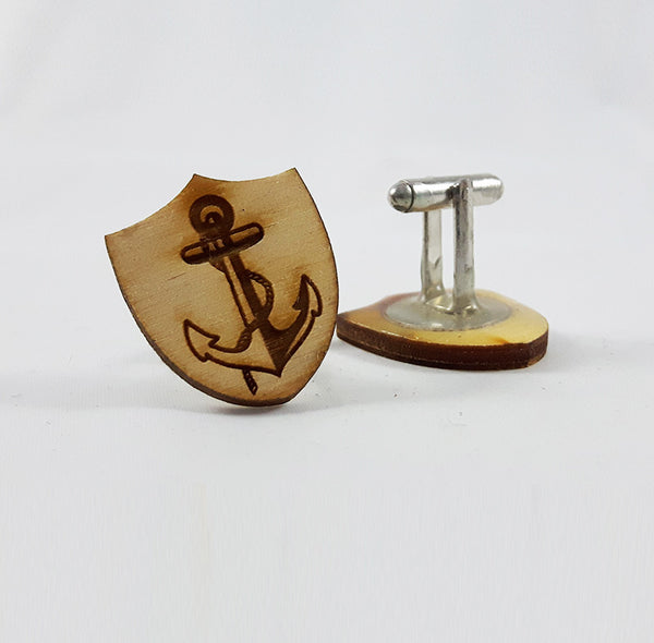 Anchor Plaque Cufflinks