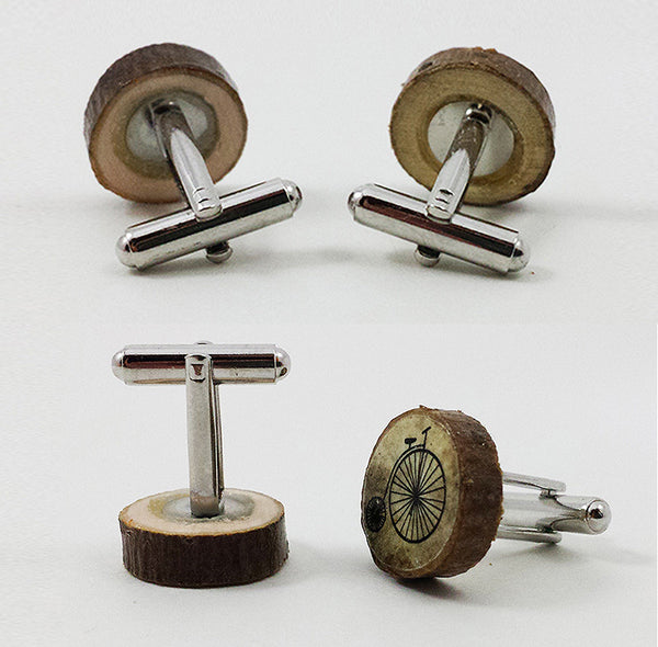 Penny-Farthing Bicycle Cufflinks
