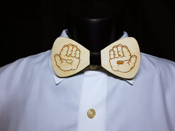 Blue Pill Red Pill Wood Bowtie