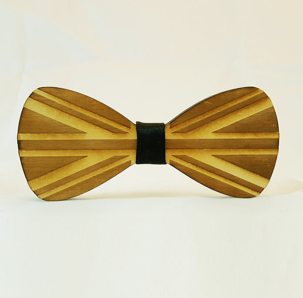 British Flag Wood Bowtie