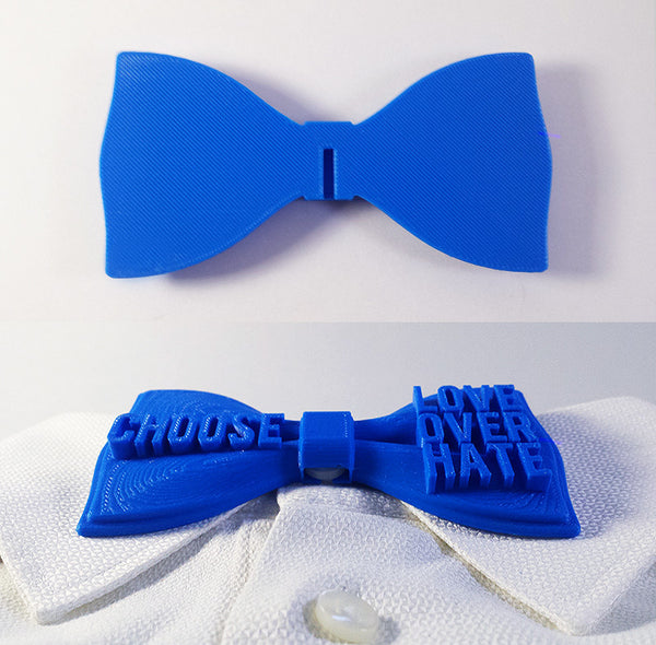 'Choose Love Over Hate' Bowtie