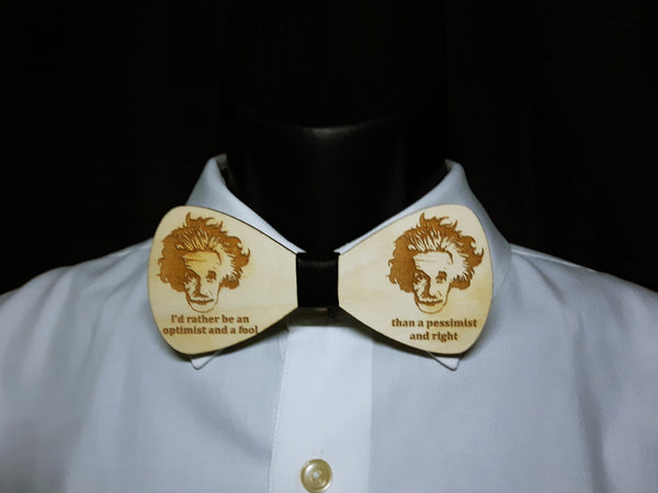 Albert Einstein Wood Bowtie