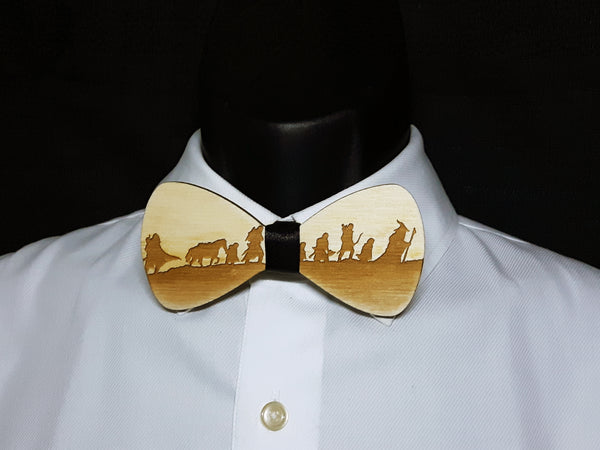 Lord of the Rings Wood Bowtie