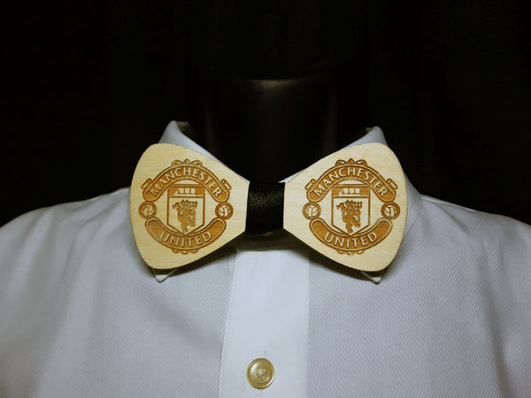 Manchester United Logo Wood Bowtie