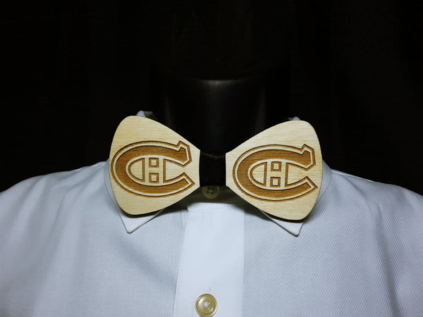 Montreal Canadians Wood Bowtie