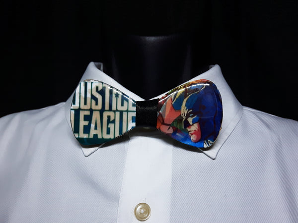 Mixed Media Justice League Wood Bowtie