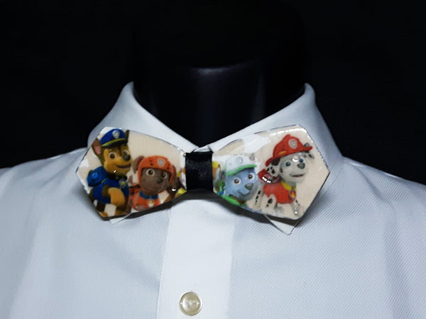 Mixed Media Paw Patrol Wood Bowtie