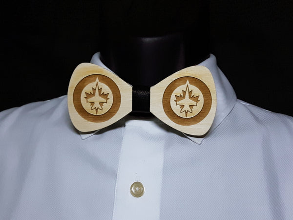 Winnipeg Jets Wood Bowtie