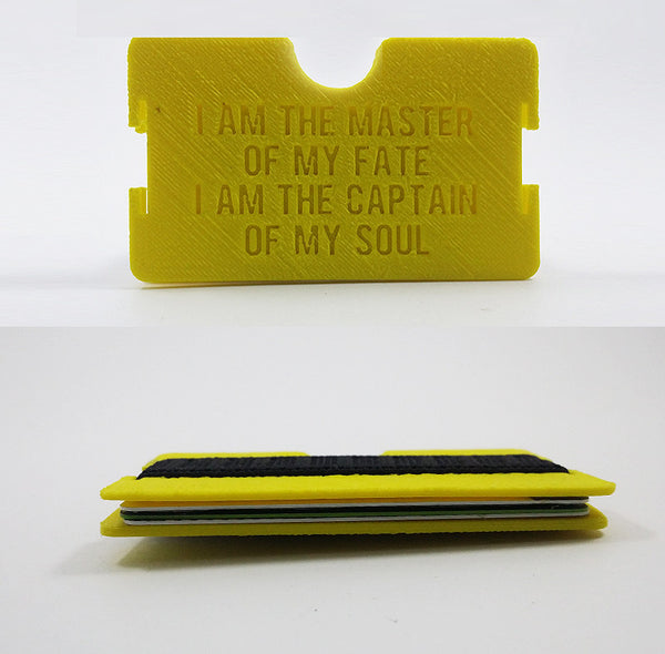 """I Am the Master of My Fate"" Flat Minimalist Wallet"