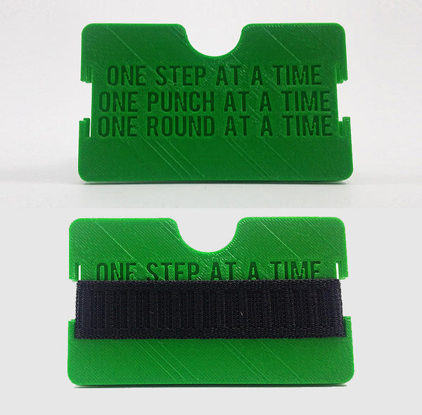 """One Step At A Time"" Flat Minimalist Wallet"