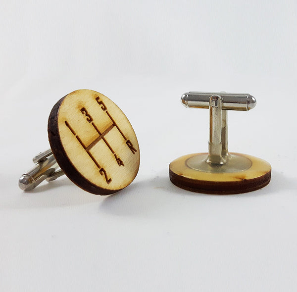Gear Shift Circular Cufflinks