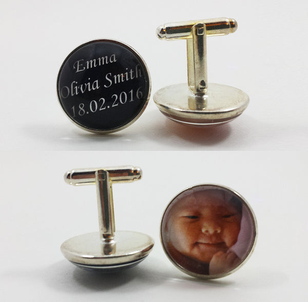 Custom Glass Photo Cufflinks
