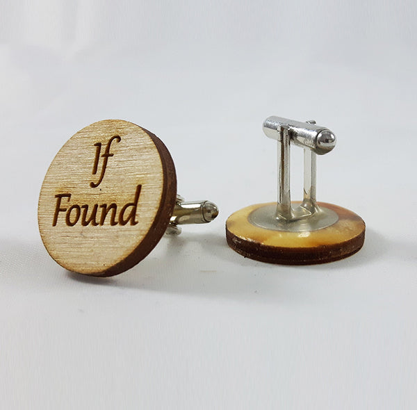 'If Found, Return to Wife' Cufflinks