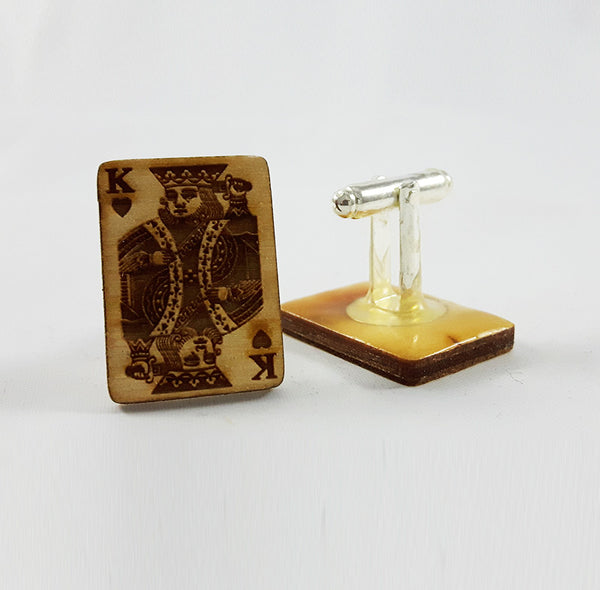 King of Hearts Card Cufflinks