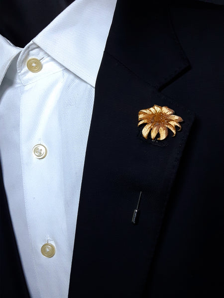 Flower Wood Lapel
